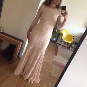 DVF Zarita lace special occasion/bridesmaid gown